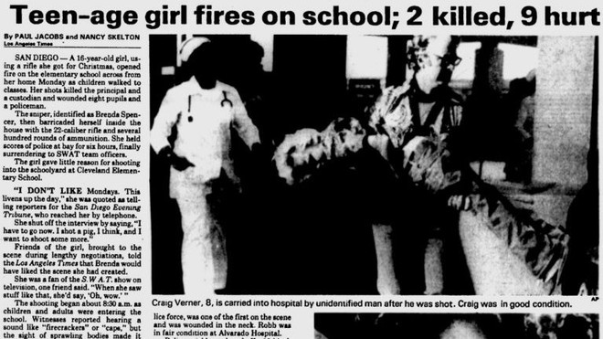 40 năm trước, một vụ xả súng vào trường học đã gây chấn động thế giới, nhưng động cơ của tên hung thủ là thứ khiến ai cũng rợn người - Ảnh 2.