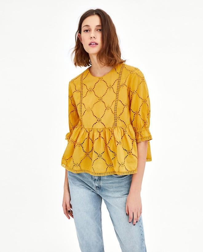 Màu vàng đang chiếm sóng khắp nơi, Zara và H&M cũng cho ra mắt loạt áo váy với giá chưa đến 1 triệu đây này! - Ảnh 10.
