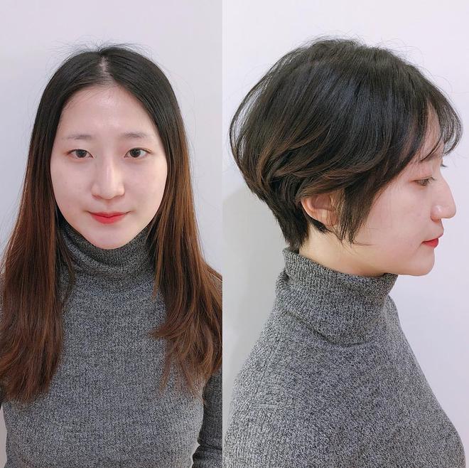 Loạt quý cô Hàn Quốc đã hack tuổi nhờ kiểu tóc tém mái lưa thưa này - Ảnh 4.