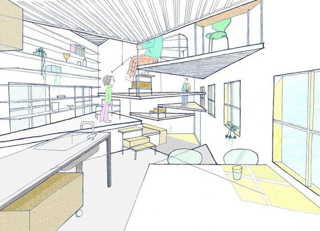 Ngôi nhà nhỏ 2 tầng nhưng có tới 13 không gian riêng nhờ thiết kế thông minh và ấn tượng của KTS người Nhật - Ảnh 1.