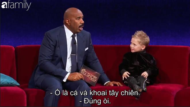 Xuất hiện cậu bé 6 tuổi người Scotland dám cãi tay đôi với MC Steve Harvey - Ảnh 5.