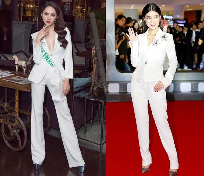 Chọn bộ suit trắng khác biệt hoàn toàn với dàn thí sinh của Hoa hậu chuyển giới ,nhưng phong cách của Hương Giang lại khá quen mặt tại showbiz Việt - Ảnh 9.