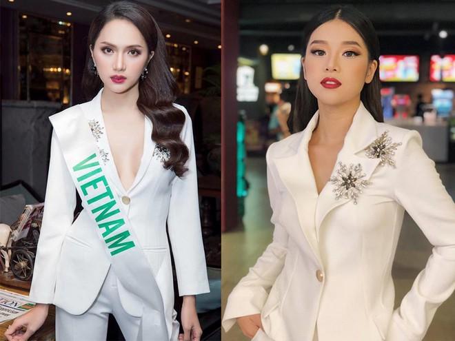 Chọn bộ suit trắng khác biệt hoàn toàn với dàn thí sinh của Hoa hậu chuyển giới ,nhưng phong cách của Hương Giang lại khá quen mặt tại showbiz Việt - Ảnh 8.