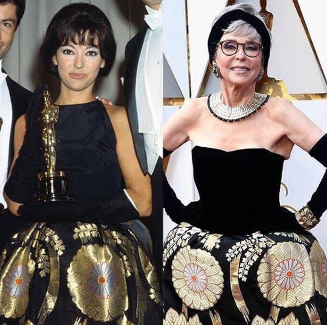 Tái chế lại chiếc váy có tuổi đời hơn 50 năm, cụ bà Rita Moreno vẫn chém đẹp loạt sao trẻ tại Oscar 2018  - Ảnh 3.