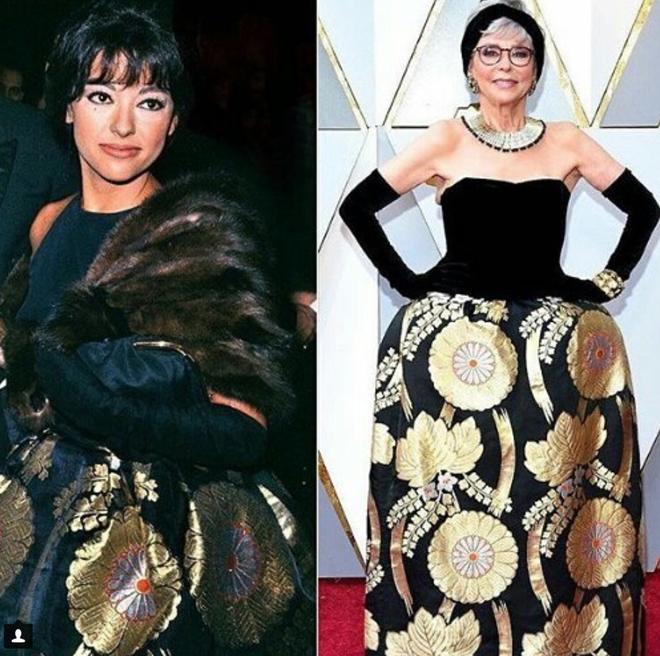 Tái chế lại chiếc váy có tuổi đời hơn 50 năm, cụ bà Rita Moreno vẫn chém đẹp loạt sao trẻ tại Oscar 2018  - Ảnh 4.