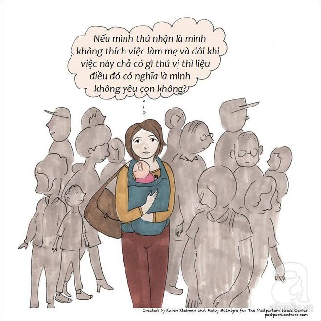 Những hình ảnh cho thấy trầm cảm sau sinh khiến người mẹ có suy nghĩ đáng sợ đến thế nào - Ảnh 4.