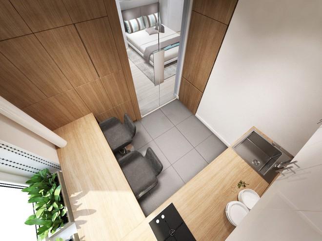 Không gian sống lý tưởng trong hai căn hộ có diện tích chưa đến 20m² - Ảnh 12.