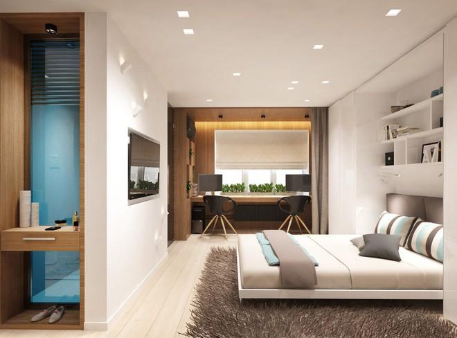 Không gian sống lý tưởng trong hai căn hộ có diện tích chưa đến 20m² - Ảnh 7.