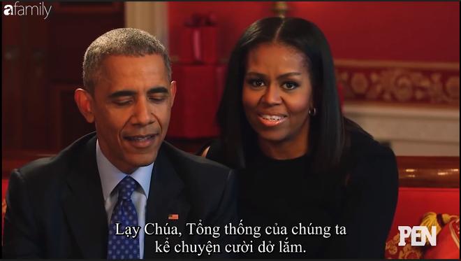 Cười ngất khi Đệ nhất phu nhân Michelle liên tục nói xấu Cựu tổng thống Barack Obama trên truyền hình - Ảnh 3.