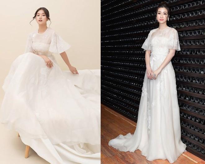 Hoàng Yến Chibi thấp hơn HH Đỗ Mỹ Linh hẳn chục centimet, nhưng khi diện chiếc đầm trắng này thì khó lòng chọn ra ai đẹp hơn - Ảnh 10.