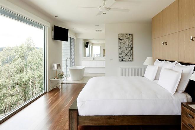 18 kiểu phòng tắm tích hợp phòng ngủ đẹp không khác gì khách sạn - Ảnh 3.