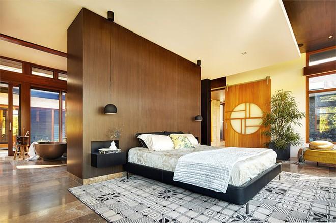 18 kiểu phòng tắm tích hợp phòng ngủ đẹp không khác gì khách sạn - Ảnh 5.