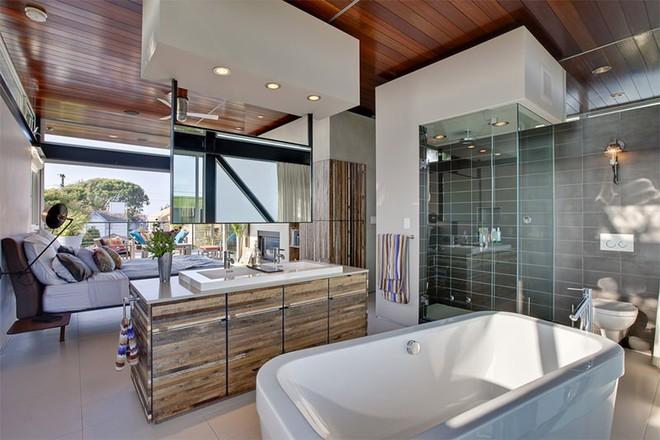 18 kiểu phòng tắm tích hợp phòng ngủ đẹp không khác gì khách sạn - Ảnh 18.