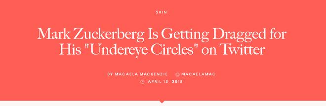 Bị soi đủ thứ, giờ đến cả quầng thâm mắt của Mark Zuckerberg cũng được dân tình tư vấn xem nên dưỡng như thế nào - Ảnh 2.