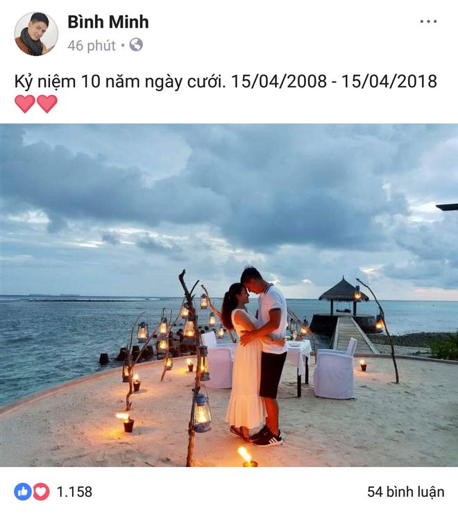 Sau bao ồn ào tình ái, vợ chồng Bình Minh cuối cùng vẫn kịp kỉ niệm 10 năm ngày cưới trong yên bình - Ảnh 1.