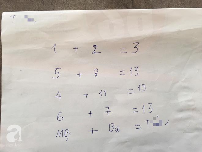 Nét chữ tròn rõ, phép toán nhanh của bé T. khi được mẹ ở nhà chỉ bảo.