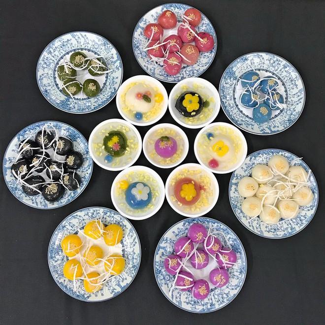 Tết Hàn thực năm nay, chị em đua nhau khoe bánh trôi bánh chay ngũ sắc đẹp mắt thơm ngon - Ảnh 3.