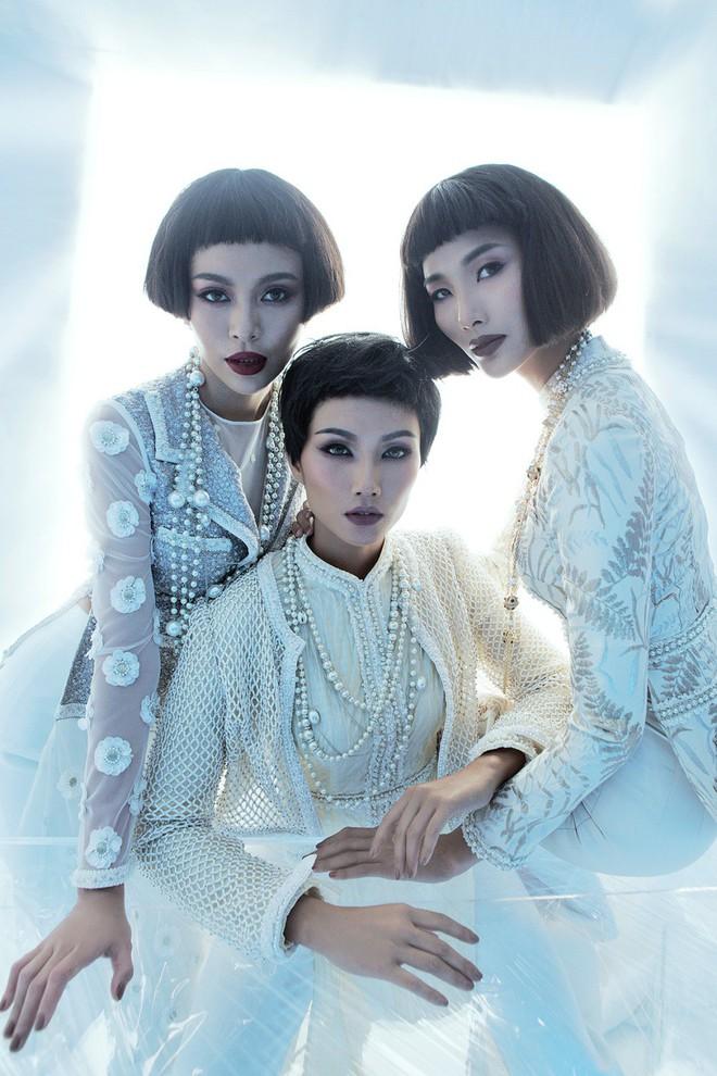 H'Hen Niê, Hoàng Thùy, Mâu Thủy khác lạ với tóc mái ngố - ảnh 2