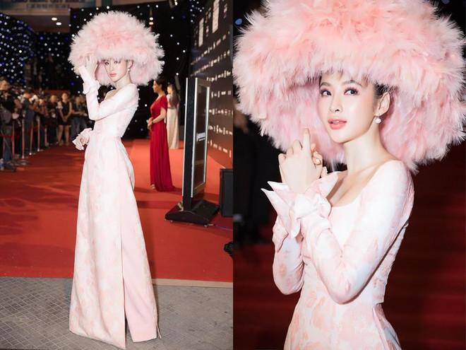 Chặt chém thảm đỏ bằng chiếc mũ lông to bự, nhưng ý tưởng này của Angela Phương Trinh lại nhìn quen quá đi thôi  - Ảnh 2.