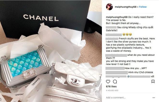 Mai Phương Thuý lại chứng tỏ độ chịu chơi khi bỏ hơn 300 triệu mua liền tay 3 chiếc túi Chanel - Ảnh 2.