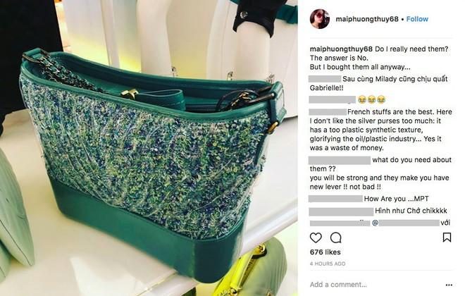 Mai Phương Thuý lại chứng tỏ độ chịu chơi khi bỏ hơn 300 triệu mua liền tay 3 chiếc túi Chanel - Ảnh 1.