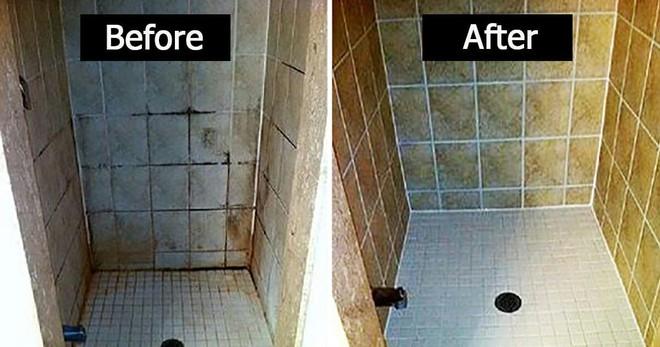 Gạch ốp nhà tắm ố vàng, đen kịt đến thế nào cũng sẽ trắng sạch ngay lập tức chỉ với một chai xịt này - Ảnh 2.