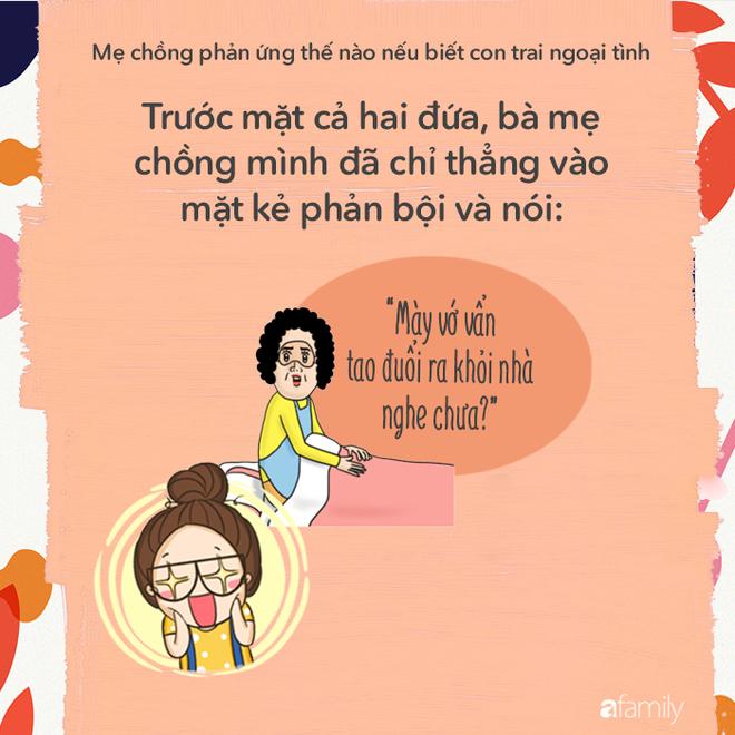 Mẹ chồng các mẹ sẽ phản ứng với các mẹ thế nào nếu biết con trai bà ngoại tình? - Ảnh 1.