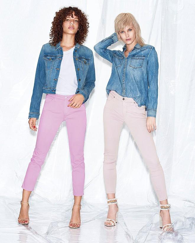 Zara cùng loạt thương hiệu khác lăng xê nhiệt tình mẫu quần jeans sắc màu trong hè này - Ảnh 1.