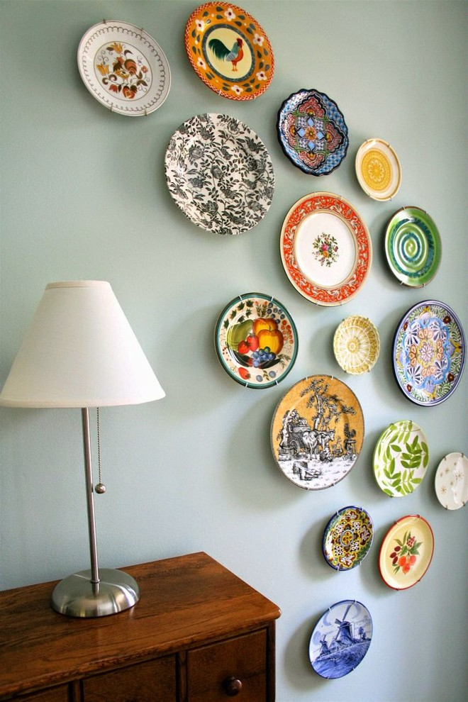 Trang trí tường bằng đĩa vừa rẻ vừa dễ, lại có thể kết hợp được với bất cứ dạng nội thất nào, tại sao bạn không thử? - Ảnh 3.