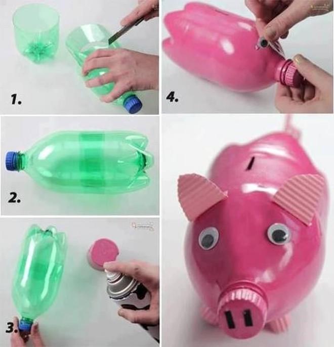 Muôn vàn cách tái chế đồ dùng độc đáo, hay ho từ chai nhựa bỏ đi - Ảnh 18.