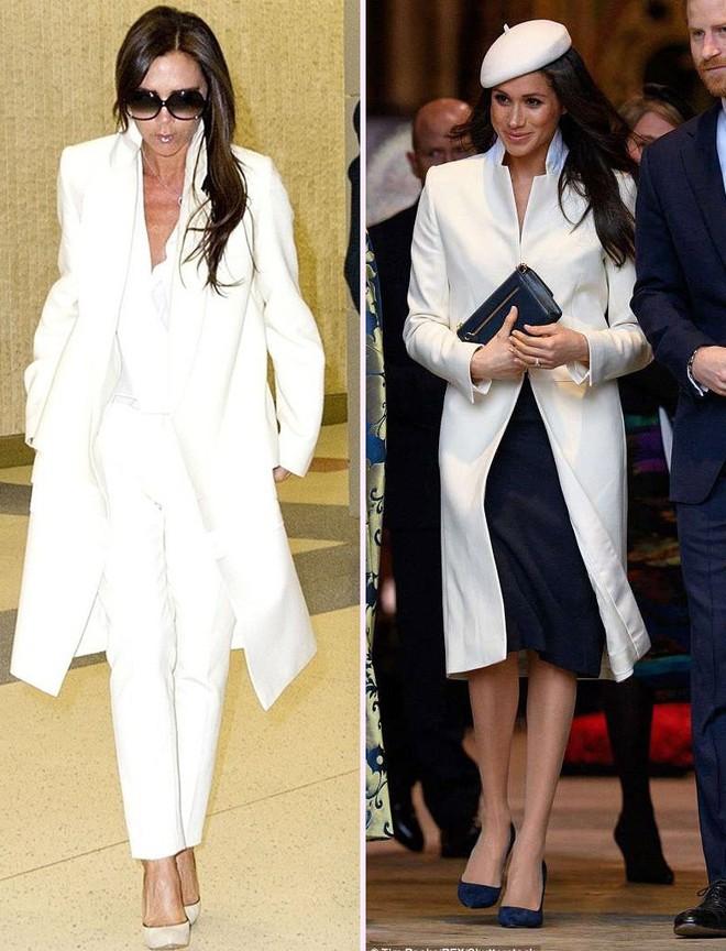 Không phải ngẫu nhiên mà mặc đẹp, dường như Meghan Markle cũng có hình mẫu để học theo và đó chính là Victoria Beckham - Ảnh 3.