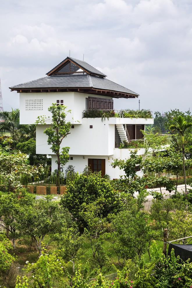 Ngất ngây với vẻ đẹp của ngôi nhà 3 tầng đậm chất kiến trúc Nhật Bản ở Vĩnh Phúc - Ảnh 2.