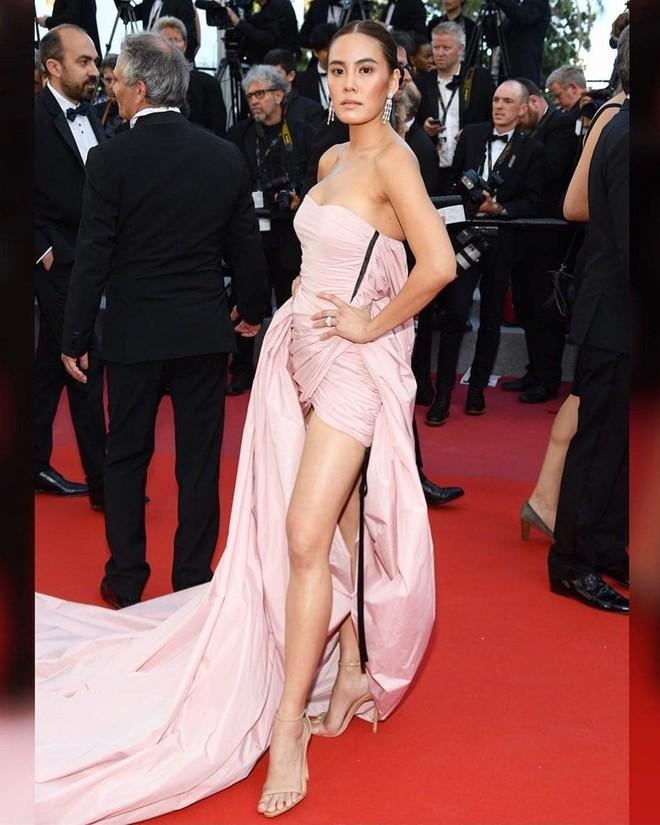 Mỹ nhân thị phi nhất Thái Lan lúng túng vì bộ đầm dài cồng kềnh khó kiểm soát tại Cannes 2018  - Ảnh 2.