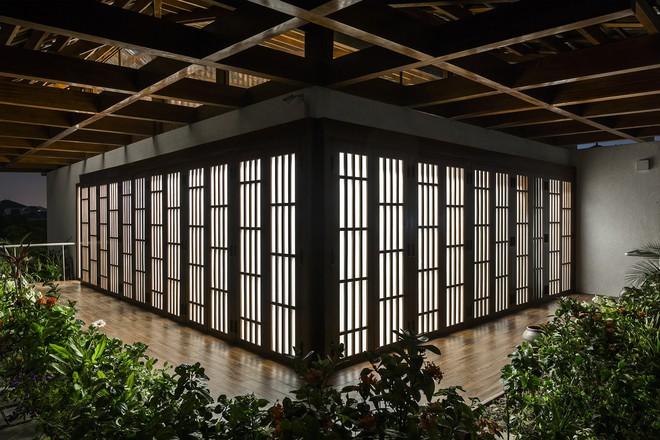 Ngất ngây với vẻ đẹp của ngôi nhà 3 tầng đậm chất kiến trúc Nhật Bản ở Vĩnh Phúc - Ảnh 8.