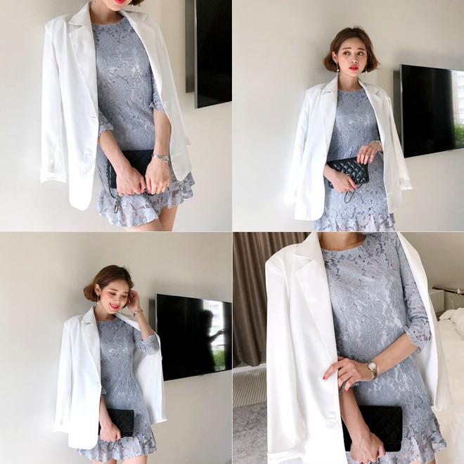 10 gợi ý mặc đồ với chất liệu ren mỏng mát cho nàng công sở những ngày trời nắng nóng - Ảnh 8.