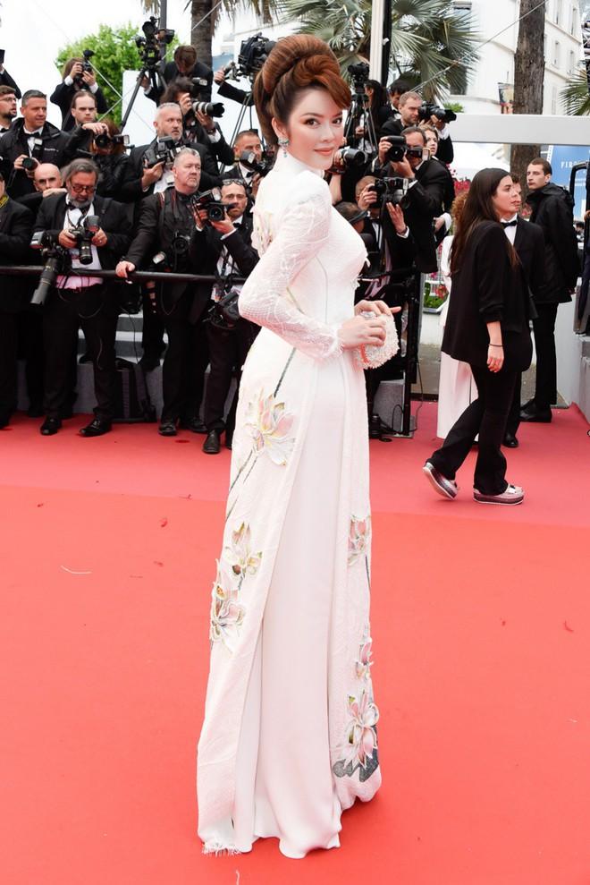 Lý Nhã Kỳ gây ấn tượng với tà áo dài Việt, hội ngộ Naomi Campbell tại LHP Cannes 2018 - Ảnh 6.