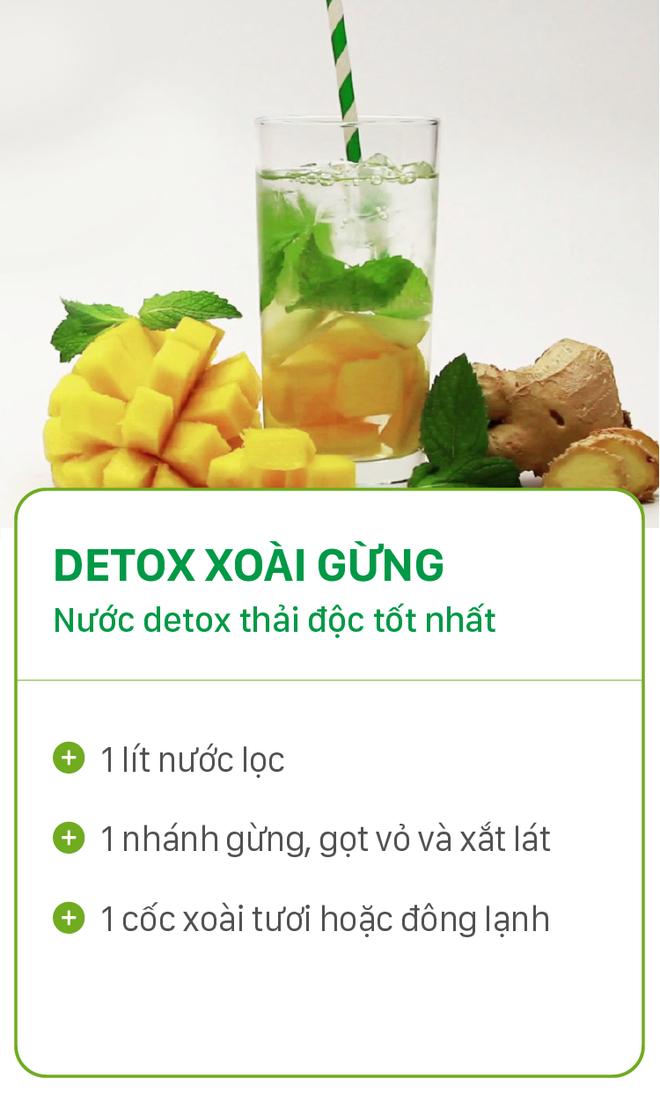 8 công thức detox đơn giản vừa đẹp da vừa chống lão hóa cực hiệu quả