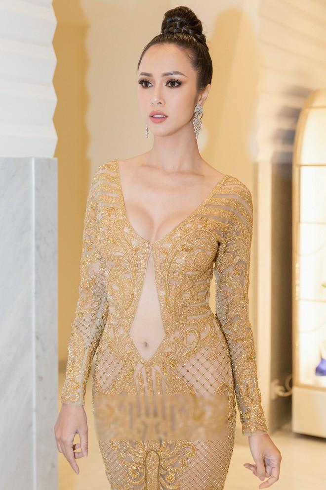 Tiếp tục diện đầm xuyên thấu lên thảm đỏ Cannes, Vũ Ngọc Anh khiến bộ váy như bị quá sức vì không che được những vùng cần che - Ảnh 3.