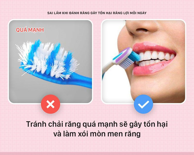 Đánh răng mà cứ mắc phải những sai lầm này thì bảo sao răng lợi ngày một yếu hơn - Ảnh 3.