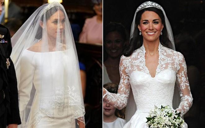 Giới chuyên gia chắc mẩm rằng váy cưới của Meghan Markle rẻ hơn Công nương Kate, và lý do là... - Ảnh 4.