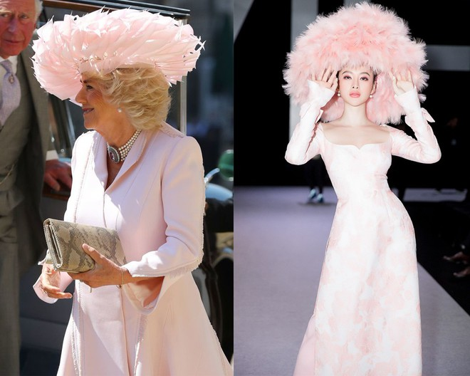 Mặc nguyên một cây hồng với mũ lông, nhìn nữ công tước này mà nghĩ ngay đến cô nàng lắm chiêu Angela Phương Trinh - Ảnh 7.