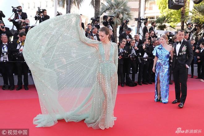Thảm đỏ Cannes ngày bế mạc: Người nỗ lực diện váy áo xuyên thấu khoe thân, kẻ bị lộ nội y kém duyên  - Ảnh 7.