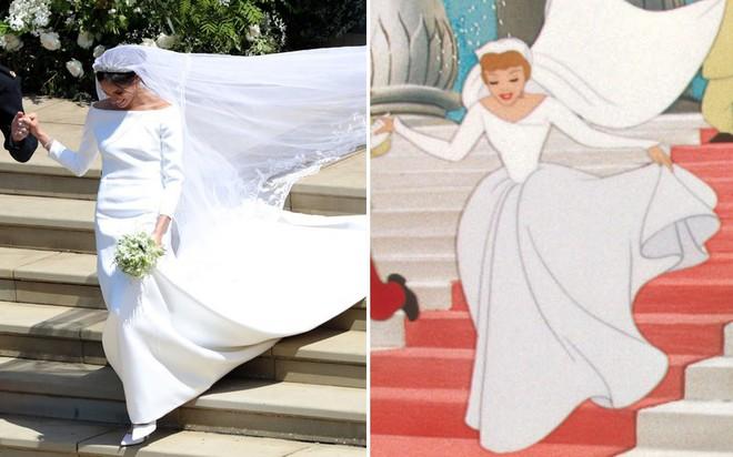 Đến váy cưới cũng giống nhau đến kỳ lạ, Meghan Markle đích thị là Công chúa Lọ Lem của đời thực - Ảnh 6.