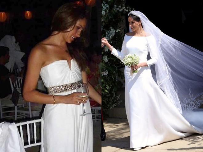 Váy cưới của Meghan Markle trong hôn lễ với người chồng đầu và váy cưới hiện tại: cả một sự lên đời ngoạn mục - Ảnh 2.