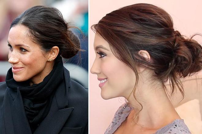 Búi tóc rối đặc trưng của Công nương Meghan dự sẽ trở thành xu hướng mới nhất, bạn cũng có thể tự thực hiện cho mình - Ảnh 4.