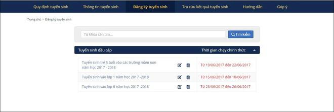 Hướng dẫn bố mẹ đăng ký tuyển sinh trực tuyến vào lớp 1 năm học 2018 - 2019 trên địa bàn Hà Nội - Ảnh 3.