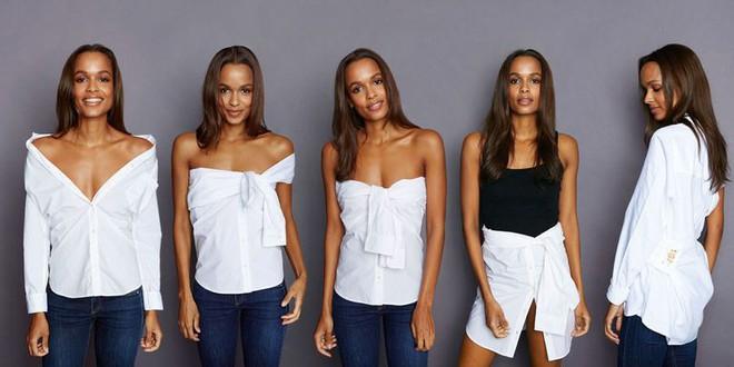 Hè ngập nắng cùng sơ mi trắng và 5 kiểu cách điệu chỉ với cùng 1 chiếc áo - Ảnh 2.
