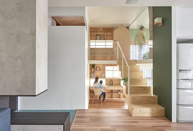 Ngôi nhà 40m² màu xanh matcha với thiết kế tầng lửng nhìn là yêu của gia đình trẻ - Ảnh 6.