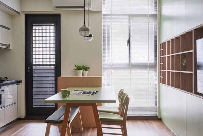 Ngôi nhà 40m² màu xanh matcha với thiết kế tầng lửng nhìn là yêu của gia đình trẻ - Ảnh 4.