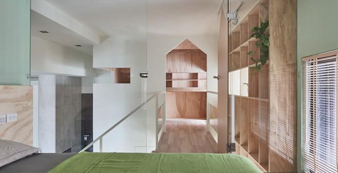 Ngôi nhà 40m² màu xanh matcha với thiết kế tầng lửng nhìn là yêu của gia đình trẻ - Ảnh 14.